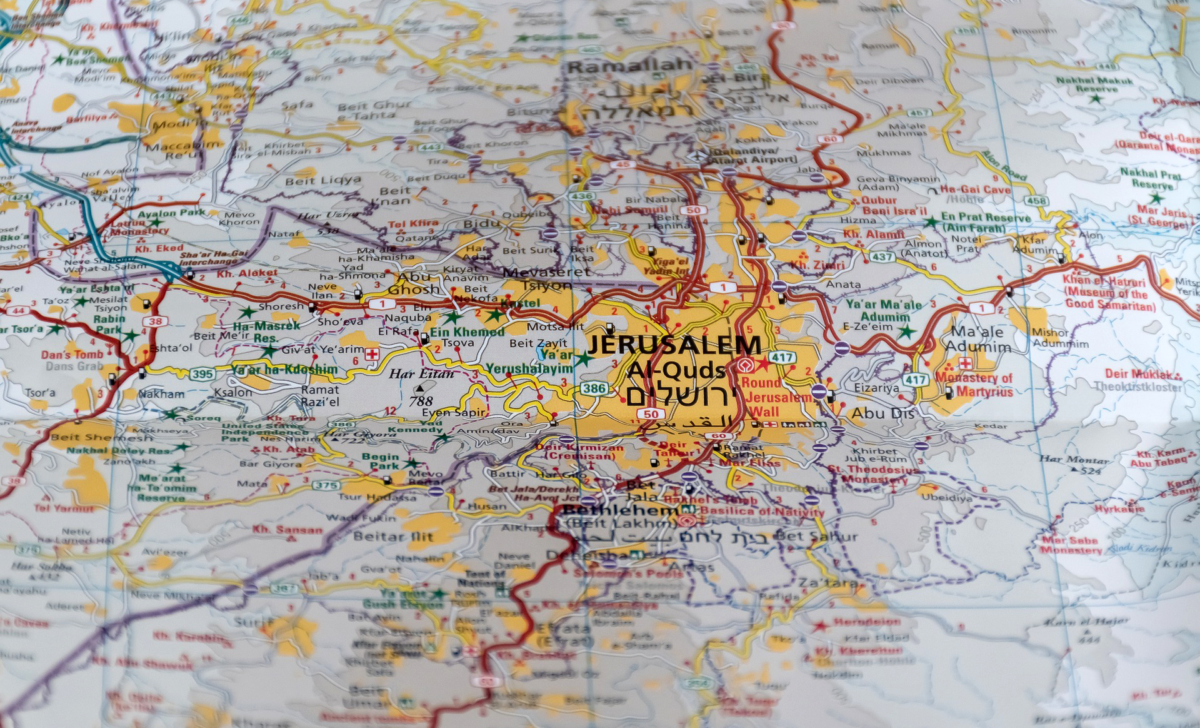 Jerusalem on the map